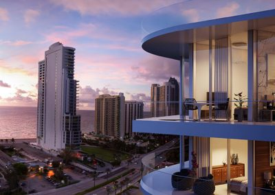 3D rendering sample of Aurora condo.