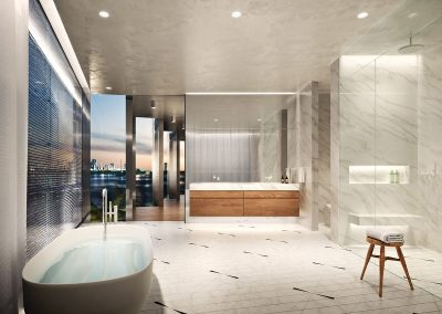 3D rendering sample of a bathroom design at Monad Terrace condo.