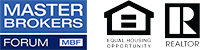Master Brokers Forum logo and Realtor logos.
