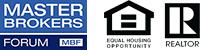 Master Brokers Forum logo and Realtor logos.